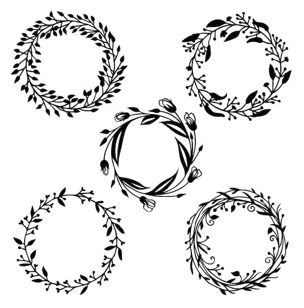 Black Flower Decorative Frame Vectors Material 04 Free: Fotos Y Vectores Gratis