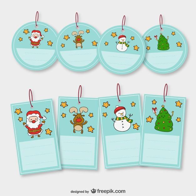 Conjunto de etiquetas de navidad