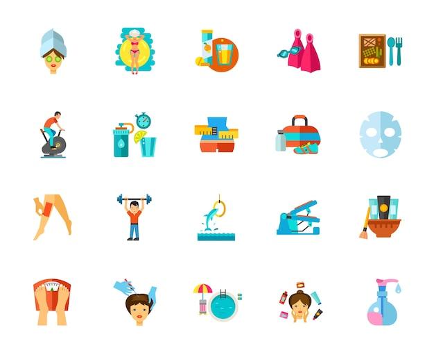 Conjunto De Iconos De Cuidado Del Cuerpo