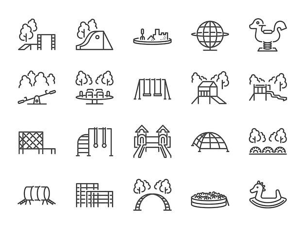 Conjunto de iconos de juegos infantiles | Descargar Vectores Premium