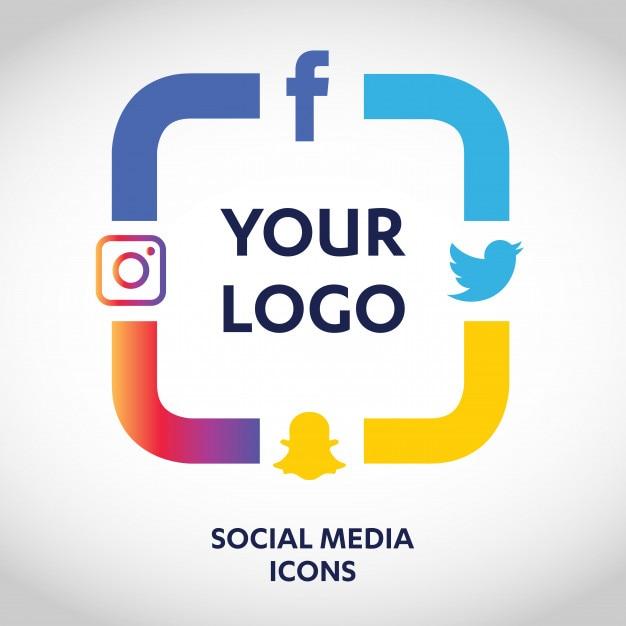 conjunto de iconos de los medios sociales m225s populares