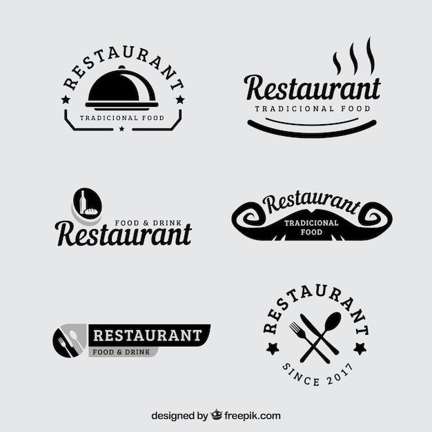 conjunto de logos vintage de restaurante descargar