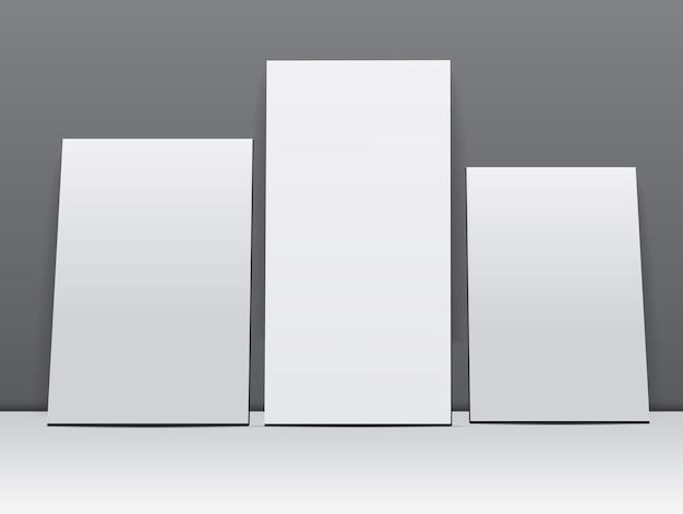 Conjunto de marcos blancos en blanco   Descargar Vectores Premium