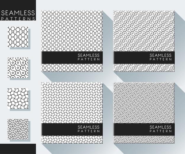Conjunto de patrones abstractos sin costura | Descargar Vectores Premium