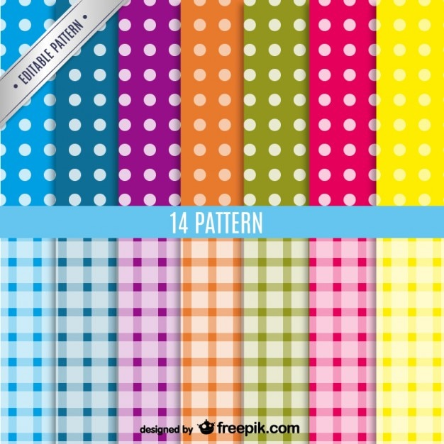Conjunto de patrones de fondo de colores | Descargar Vectores gratis