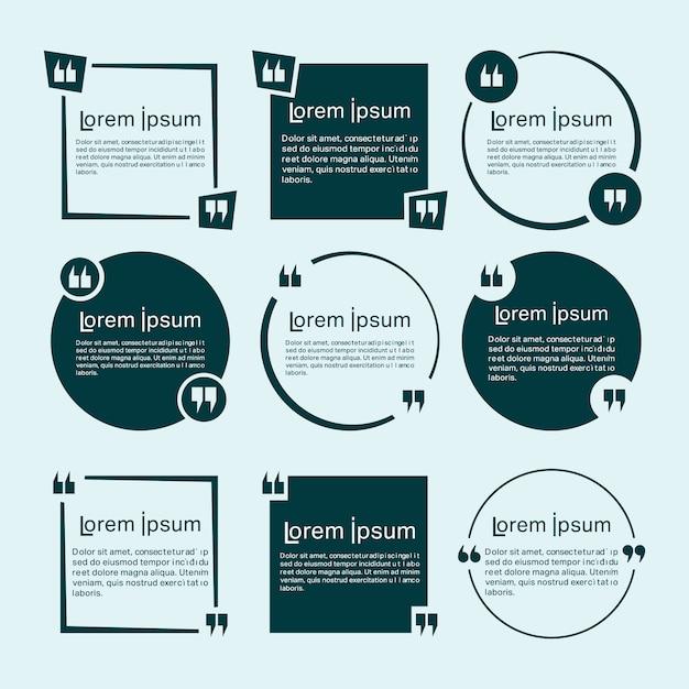 Conjunto de plantillas de cotizaciones | Descargar Vectores Premium