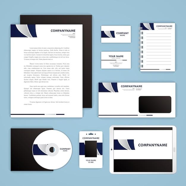 Conjunto de plantillas de identidad corporativa. papel del asunto ...