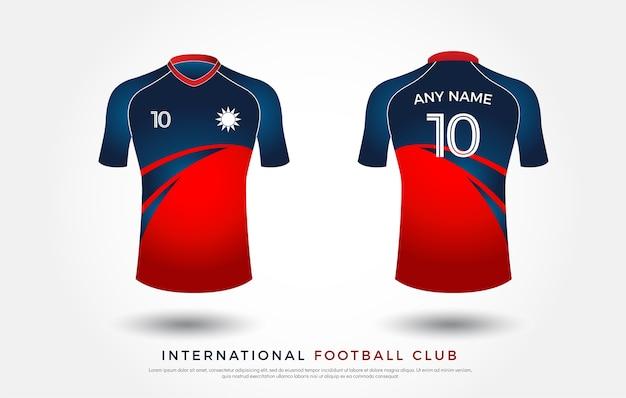 Conjunto de uniforme de diseño de camiseta de fútbol. plantilla de ...