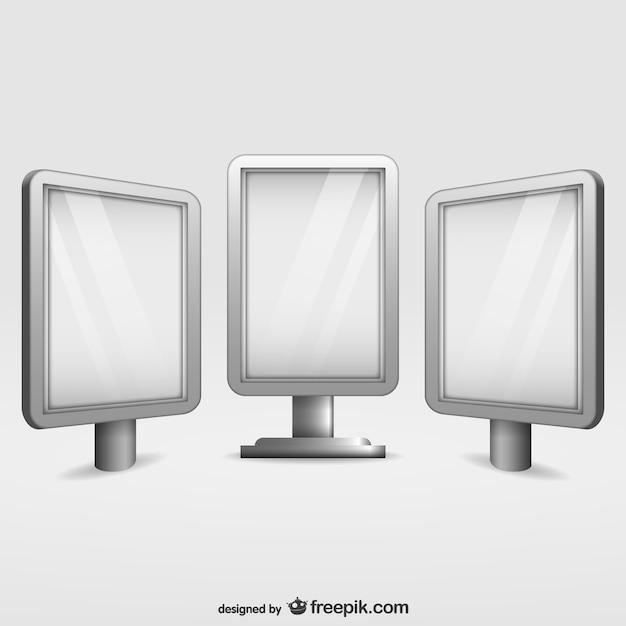 Conjunto de vallas publicitarias de cristal descargar - Vallas de cristal ...