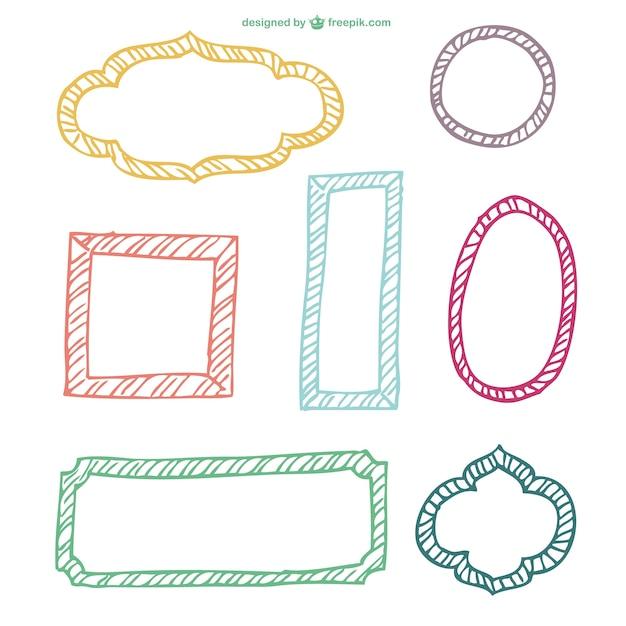 Conjunto de vectores de marcos minimalistas   Descargar Vectores gratis