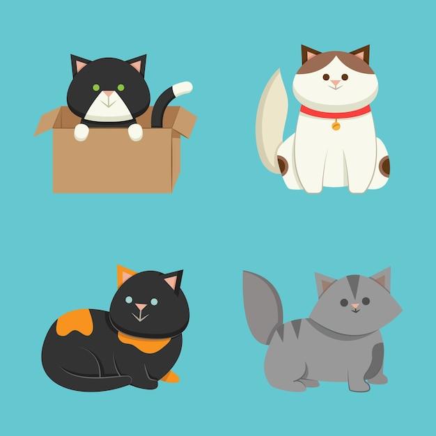 Conjunto de diferentes mascotas vector gratuito