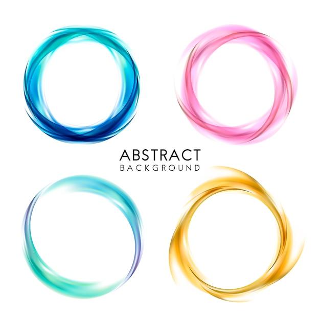 Conjunto de diseño de fondo abstracto colorido vector gratuito