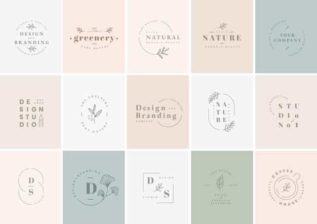 Conjunto de diseño de logotipo vector gratuito