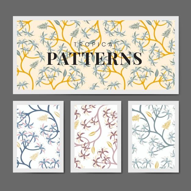 Conjunto de diseño de patrón de hoja de naturaleza vector gratuito