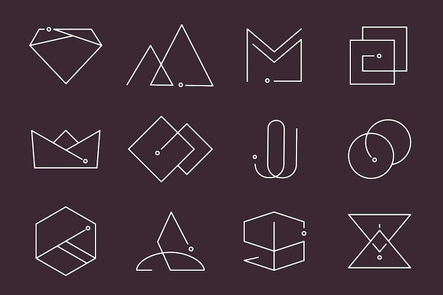 Conjunto de diseños de logotipo mínimo vector gratuito