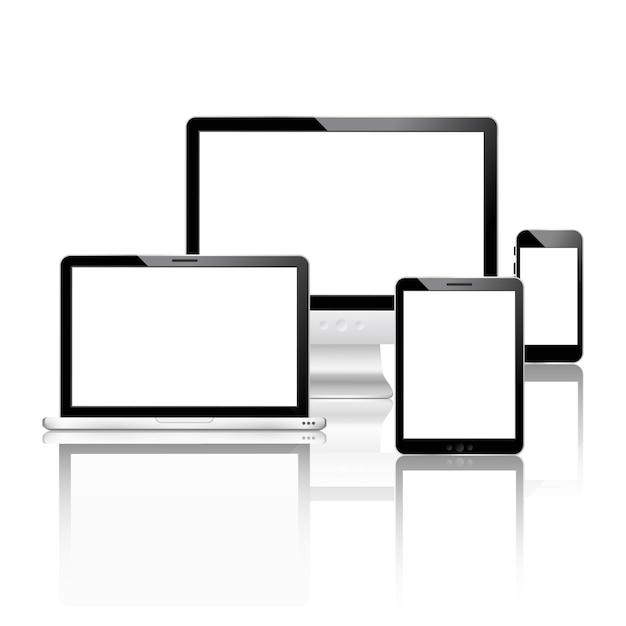 Conjunto de dispositivos móviles vector gratuito