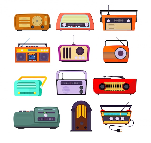 Conjunto de dispositivos de radio vector gratuito