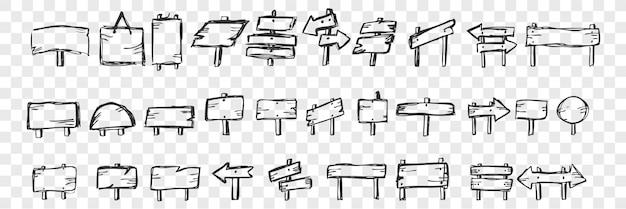Conjunto de doodle de tabletas dibujadas a mano Vector Premium