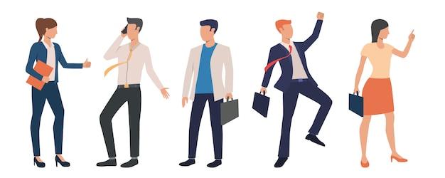 Conjunto de ejecutivos de negocios exitosos vector gratuito