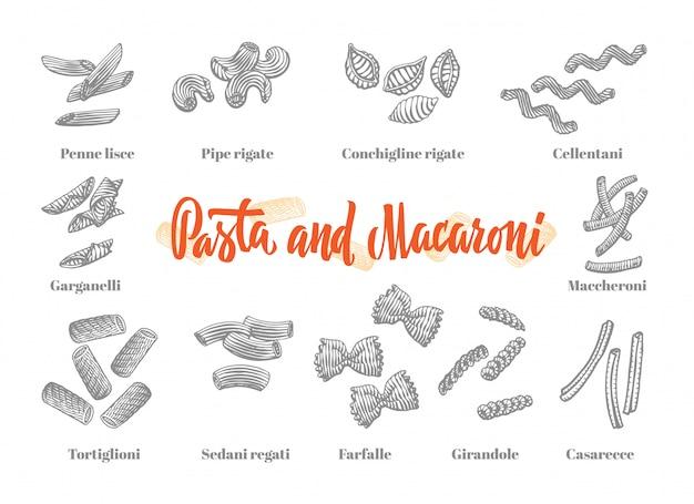 Conjunto de elementos de cocina italiana vector gratuito