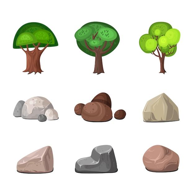 Conjunto de elementos de decoración vector gratuito