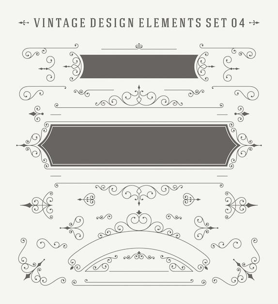 91ee8c760c918 Conjunto de elementos del diseño de las decoraciones de los jpg 626x683  Vintage elemento vendimia hermoso