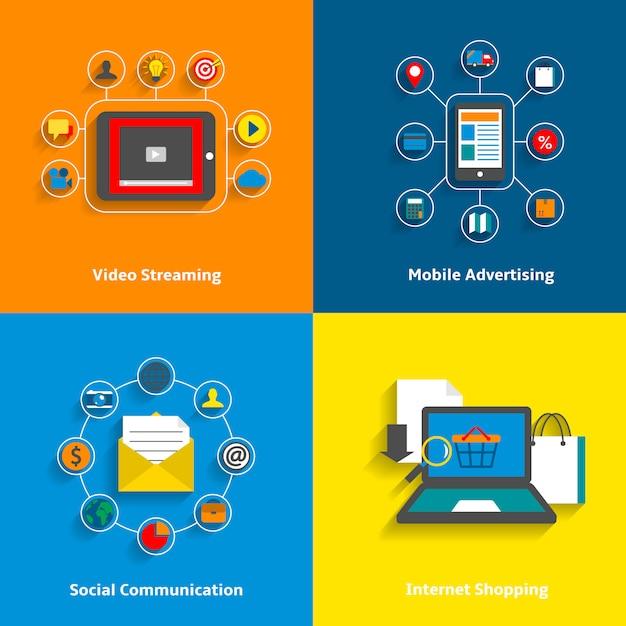 Conjunto de elementos de e-commerce. vector gratuito