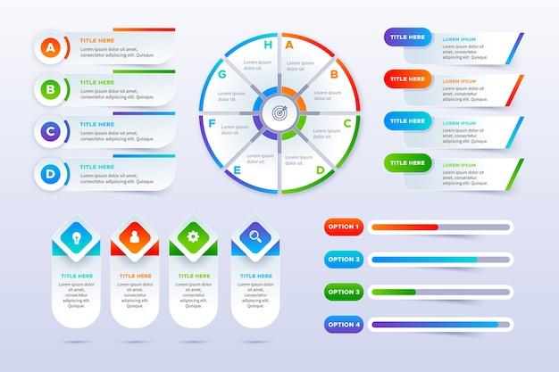 Conjunto de elementos infográficos vector gratuito