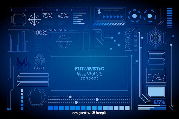 Conjunto de elementos informativos futuristas vector gratuito
