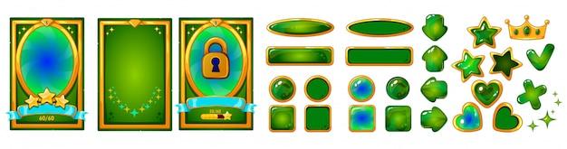 Conjunto de elementos para juegos móviles Vector Premium