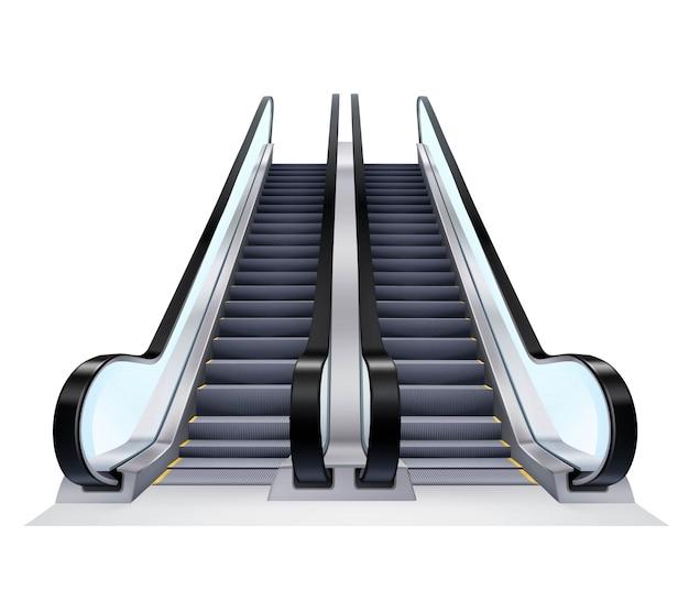 Conjunto De Escaleras Arriba Y Abajo Vector Gratis