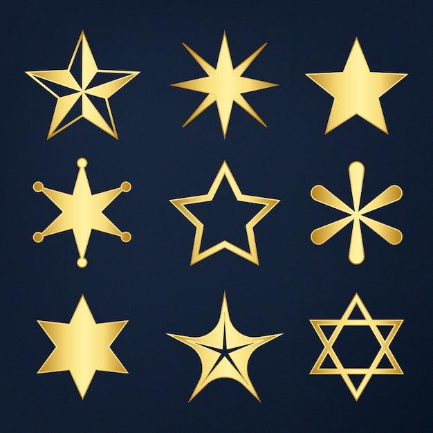 Conjunto de estrellas mixtas vector gratuito