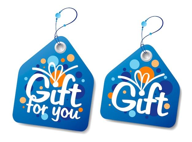 Conjunto de etiquetas o etiquetas de regalo de año nuevo Vector Premium