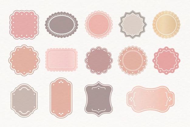 Conjunto de etiquetas pastel vector gratuito