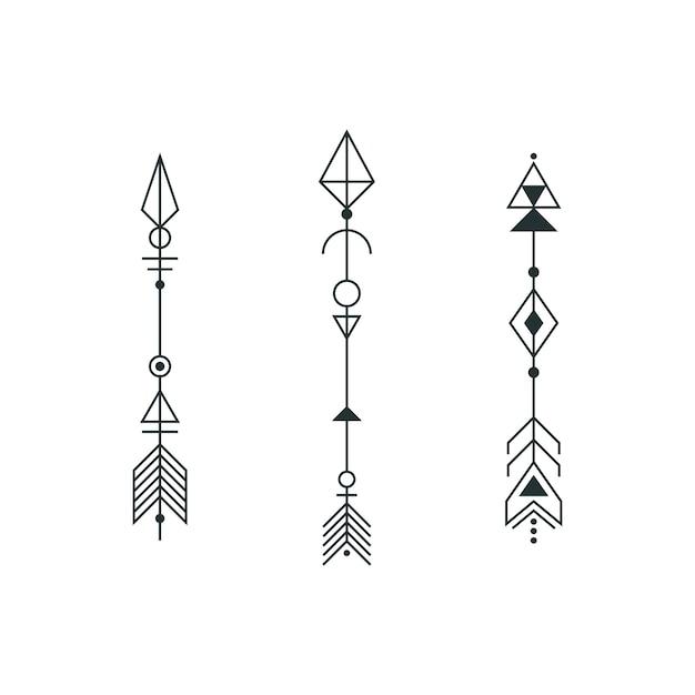 Conjunto De Flechas Gráficas Para Diseño De Tatuaje Descargar