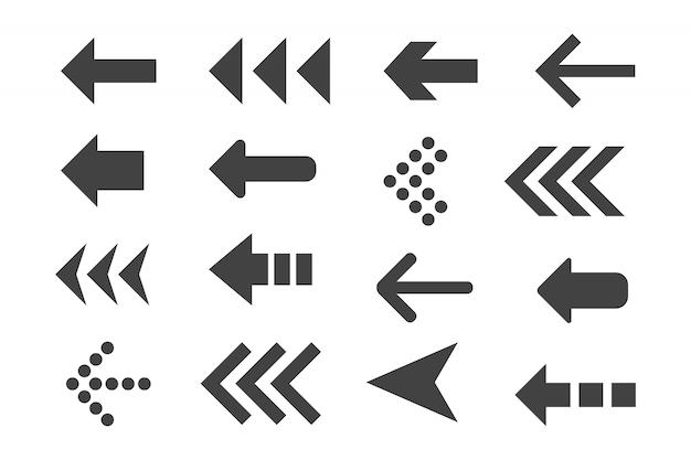 Conjunto de flechas negras. Vector Premium
