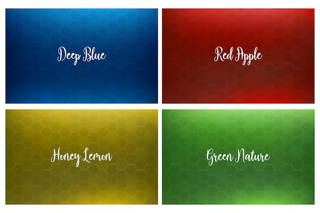 Fondo Fondos Abstractos Rojo Y Amarillo: Conjunto De Fondo Abstracto Del Panal Azul, Rojo, Amarillo