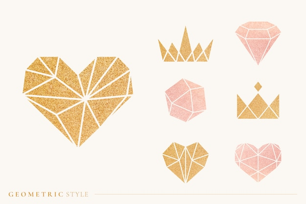 Conjunto de formas geométricas. vector gratuito