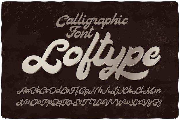 Conjunto de fuentes caligráficas en negrita vector gratuito