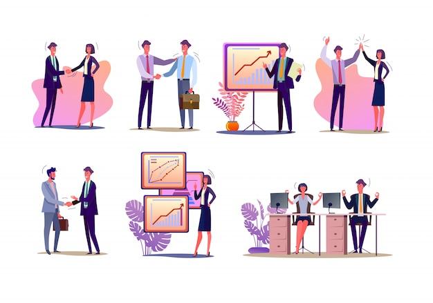 Conjunto de gerentes de proyecto vector gratuito