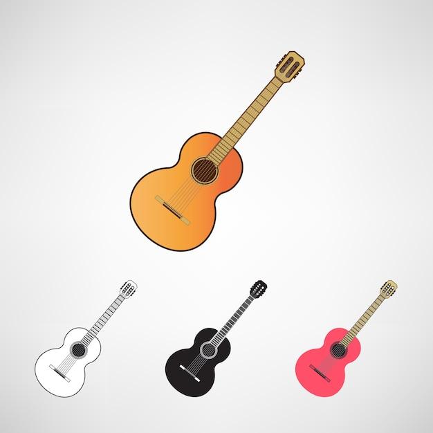 Conjunto de guitarras acústicas y eléctricas Vector Premium