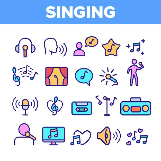 Conjunto de iconos de canto diferente Vector Premium