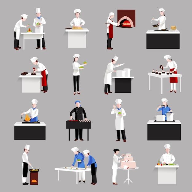 Conjunto de iconos de cocina vector gratuito