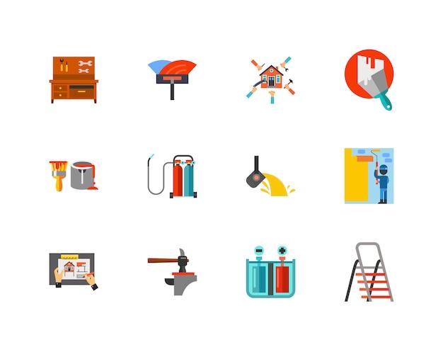 Conjunto de iconos de construcción vector gratuito