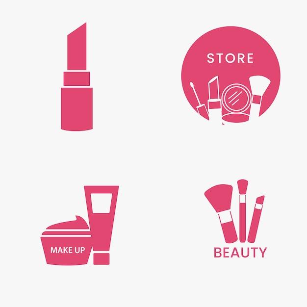 Conjunto de iconos de cosméticos de belleza vector gratuito