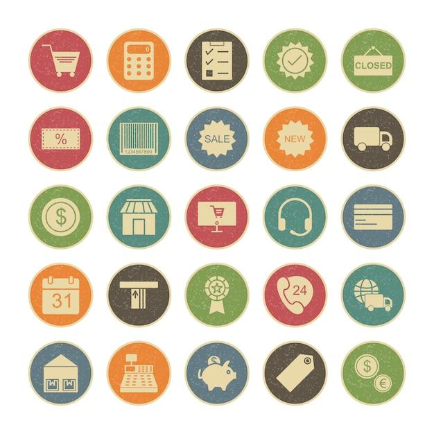 Conjunto de iconos de interfaz de usuario básica para uso personal y comercial ... Vector Premium