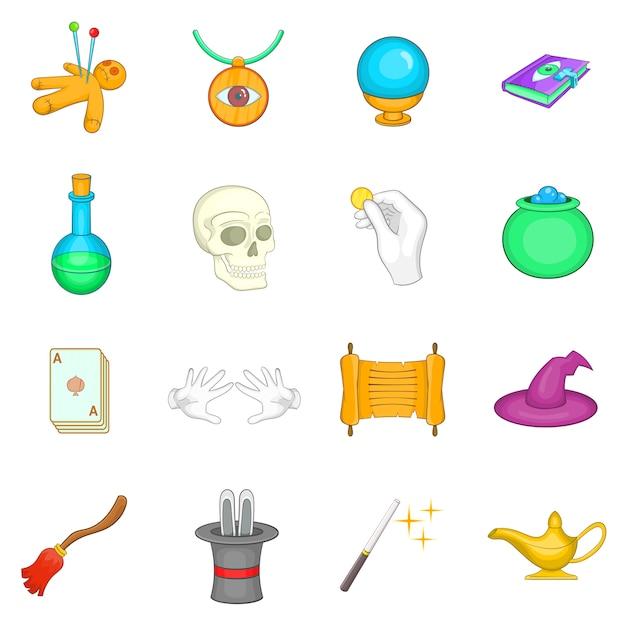 Conjunto de iconos de magia Vector Premium