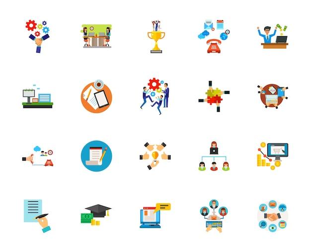 Conjunto de iconos de marketing vector gratuito