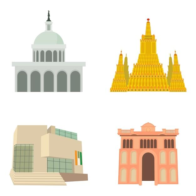 Conjunto de iconos parlament Vector Premium