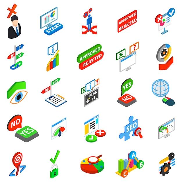 Conjunto de iconos de respuesta Vector Premium